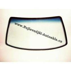 Čelní sklo / přední okno Kia Carens II - zelené, modrý pruh, vyhřívané, senzor