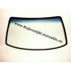Čelní sklo / přední okno Hyundai Santa Fe II - zelené, modrý pruh, vyhřívané